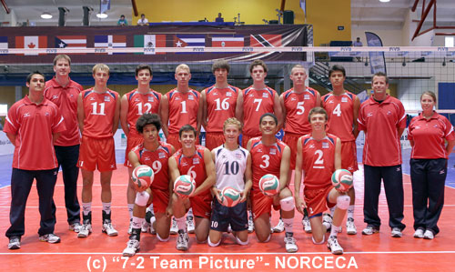 PHOTO COPYRIGHTS: 7-2 Team Picture - NORCECA
